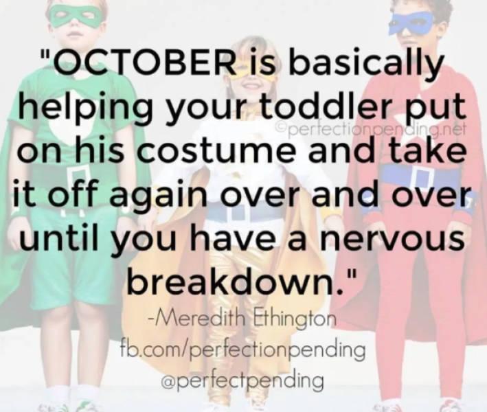 Parenting + Halloween = Pain