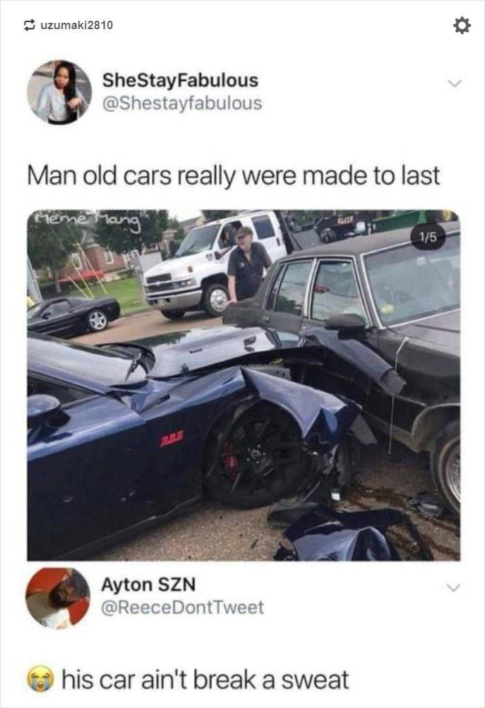 Internet Explains Why Old Cars Being Stronger Is Not Necessarily A Good Thing
