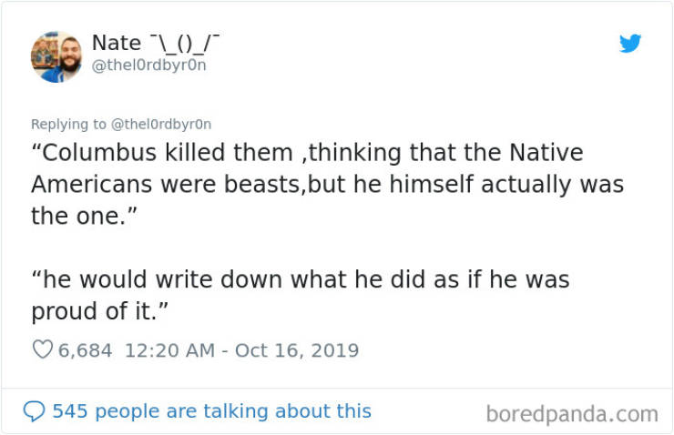 Teacher Tells His Students The True Story Of Columbus, Posts Their Responses