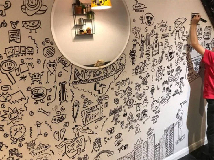 9-Year-Old Can't Stop Doodling In Class, Gets Invited To Decorate A Restaurant