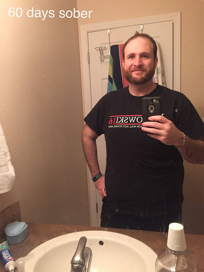 Man Shares Three Years Of His Sobriety Progression, And He Just Keeps Getting Happier!