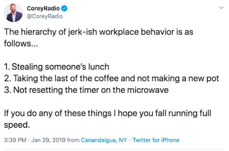Yeah, Go Ahead, Try Eating Lunch In The Office