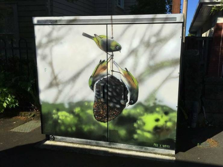 New Zealand Artists Transform Telecommunications Cabinets Into Masterpieces