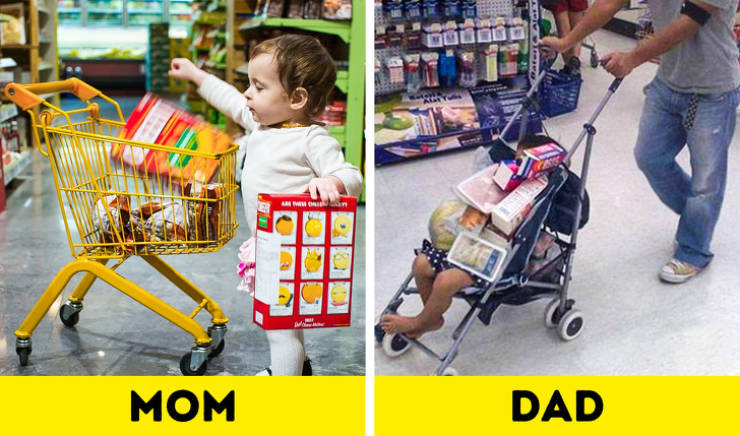 Moms And Dads Are Like Complete Opposites