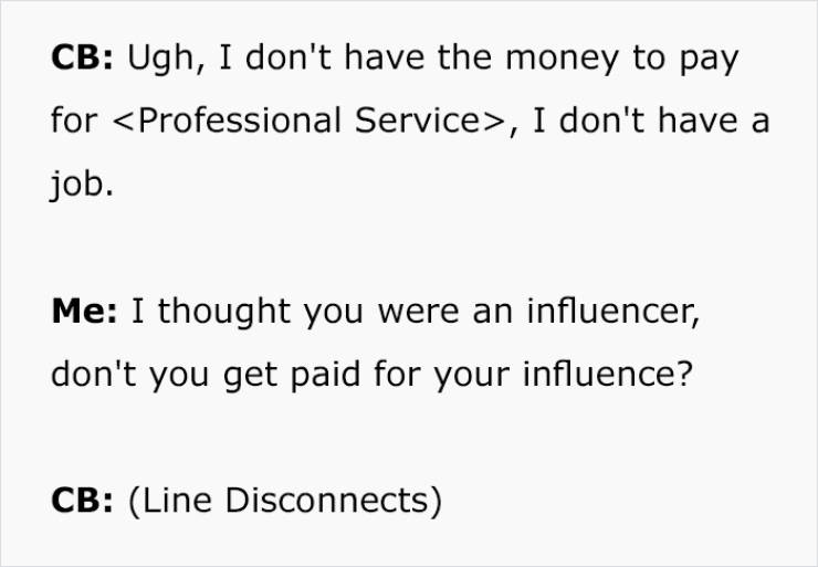 Yeah, Influencer, You'll Have To Pay…