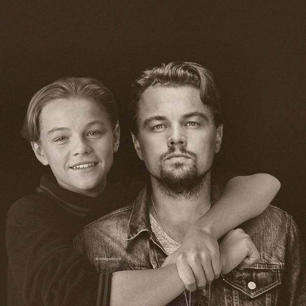Celebs Together With Themselves, But Younger, By Ard Gelinck