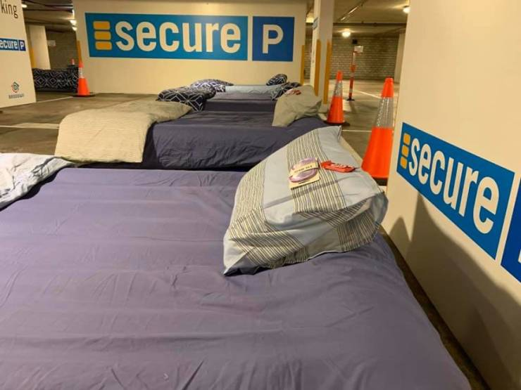 Parking Lot Is Turned Into A Home For Homeless People