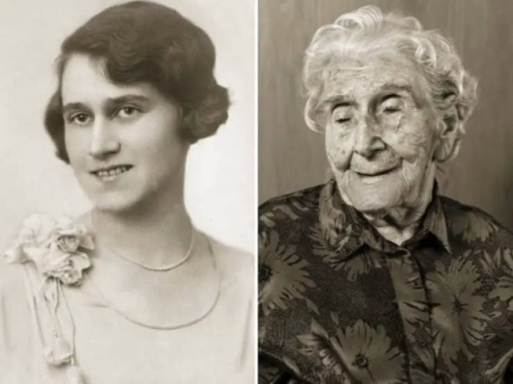 People Who Are Over 100 Years Old Now Compared To Their Young Photos
