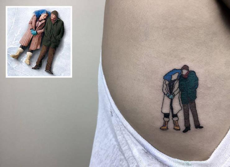 Artist Creates Fascinating Minimalistic Movie-Themed Tattoos