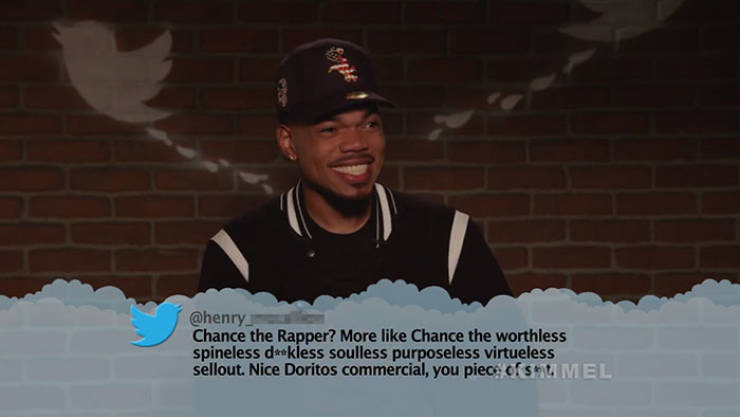 Celebs Don't Like Reading Mean Tweets About Themselves
