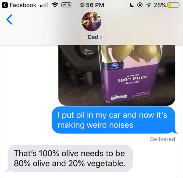 Tell Your Dad You Put Olive Oil In Your Car's Engine…