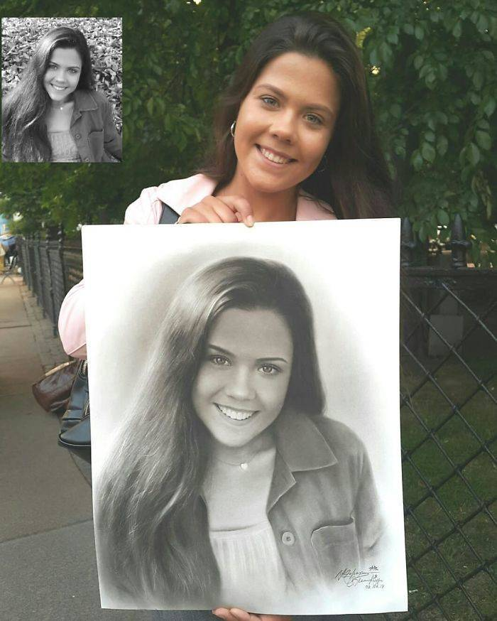 """This Russian Artist Can Draw A """"Photo"""" Of You In One Hour"""