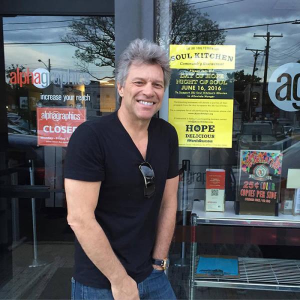 Jon Bon Jovi Has Two Charity Restaurants For People In Need