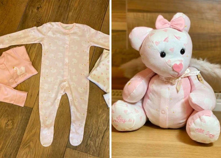 """Woman Turns Clothes Of Very Special People Into """"Memory Bears"""""""