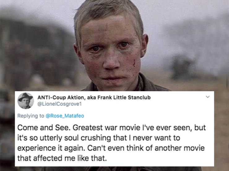 Great Movies, But Never Watching Them Again!