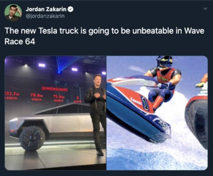"""Internet Was Ready To Roast Elon Musk's Tesla Cyber """"Truck"""""""
