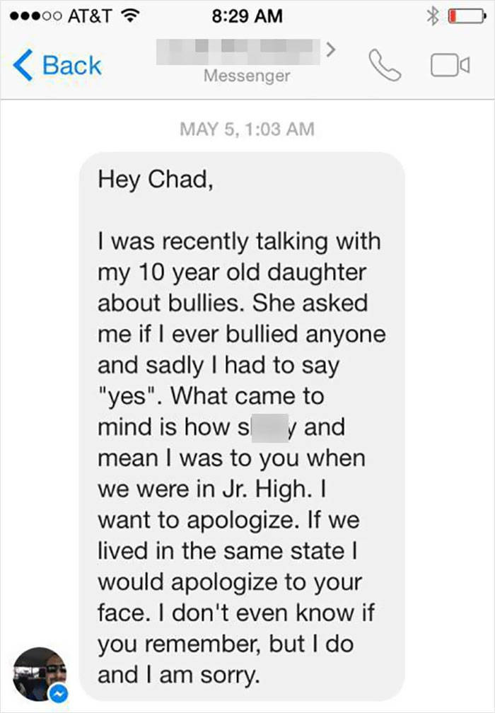 Not All Bullies Stay Bad For The Rest Of Their Lives