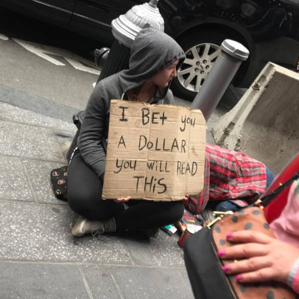 Homeless People Who At Least Still Have These Funny Signs