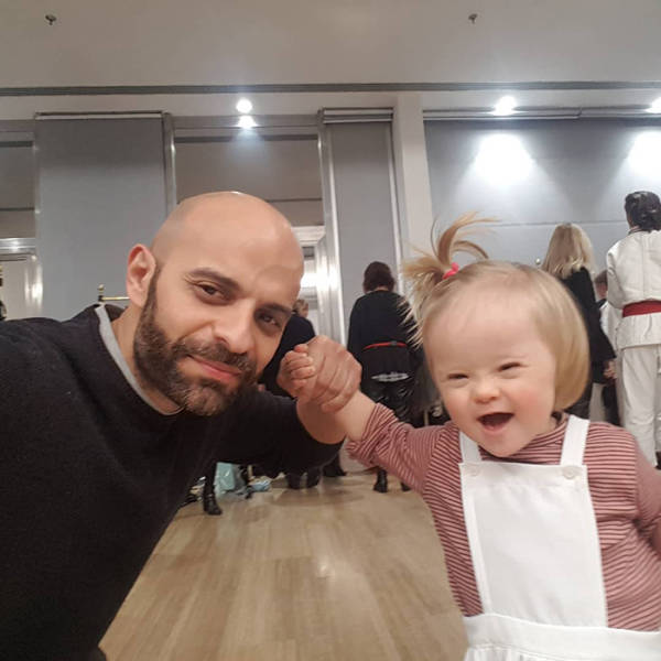 Italian Single Dad Adopts A Girl With Down Syndrome