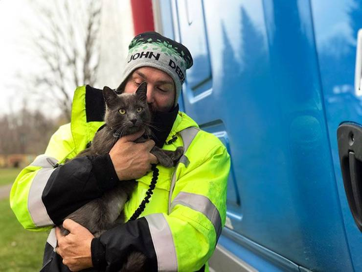 Truck Driver Finally Finds His Missing Cat After Months Of Searching