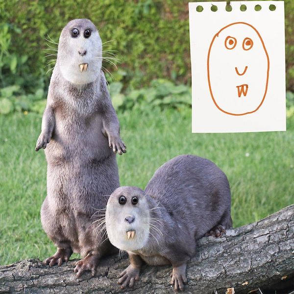 Dad Vividly Visualizes His Kids' Drawings, And It's A Bit Unsettling…
