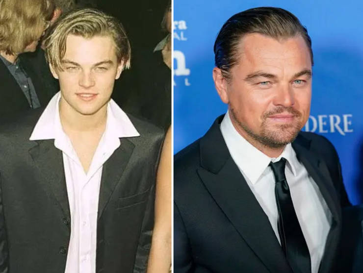 Oldest And Newest Celebrity Photos