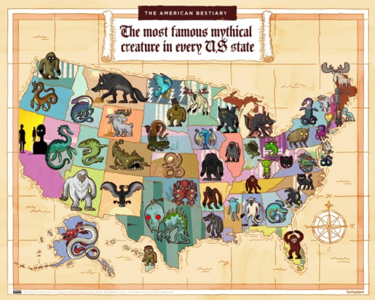 The Famous Mythical Creatures Of The United States