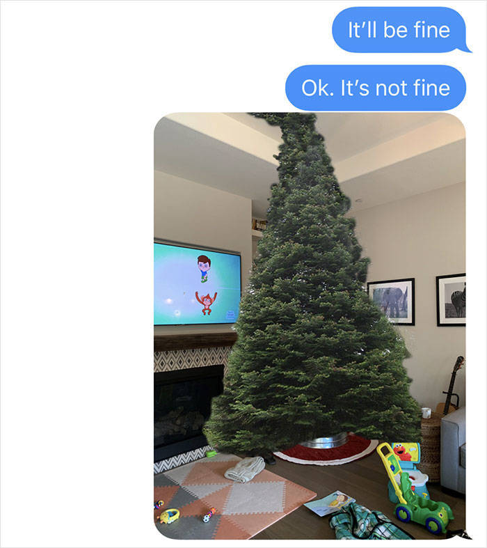 That's What Happens When Dad Goes Christmas Tree Shopping Alone