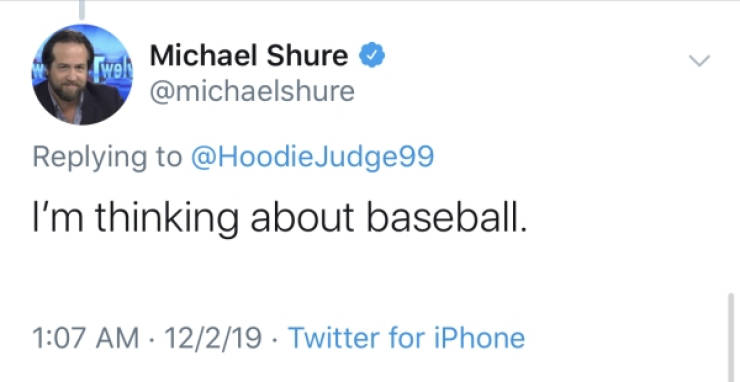 You Can Say It, Whether It's During Baseball Or Sex