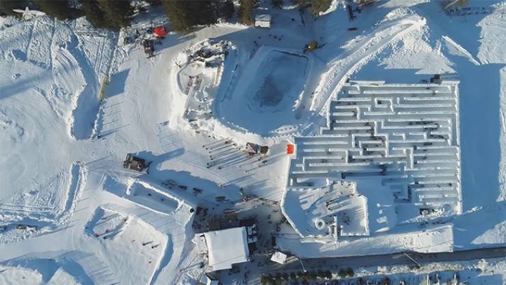 This Snow Labyrinth In Poland Is HUGE!