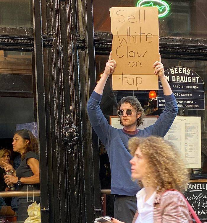 This Guy Just Wants To Protest…