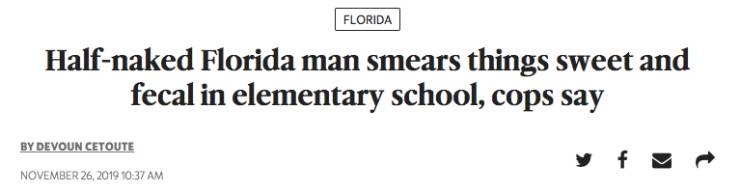 Florida Never Stops Being Crazy