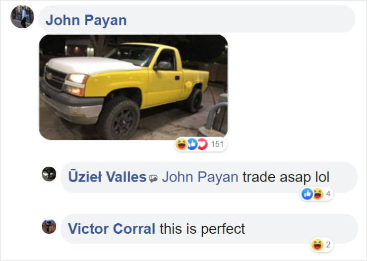 Guy Looks For A Replacement For His Mismatched Truck Hood, Finds The Absolute Perfect Candidate