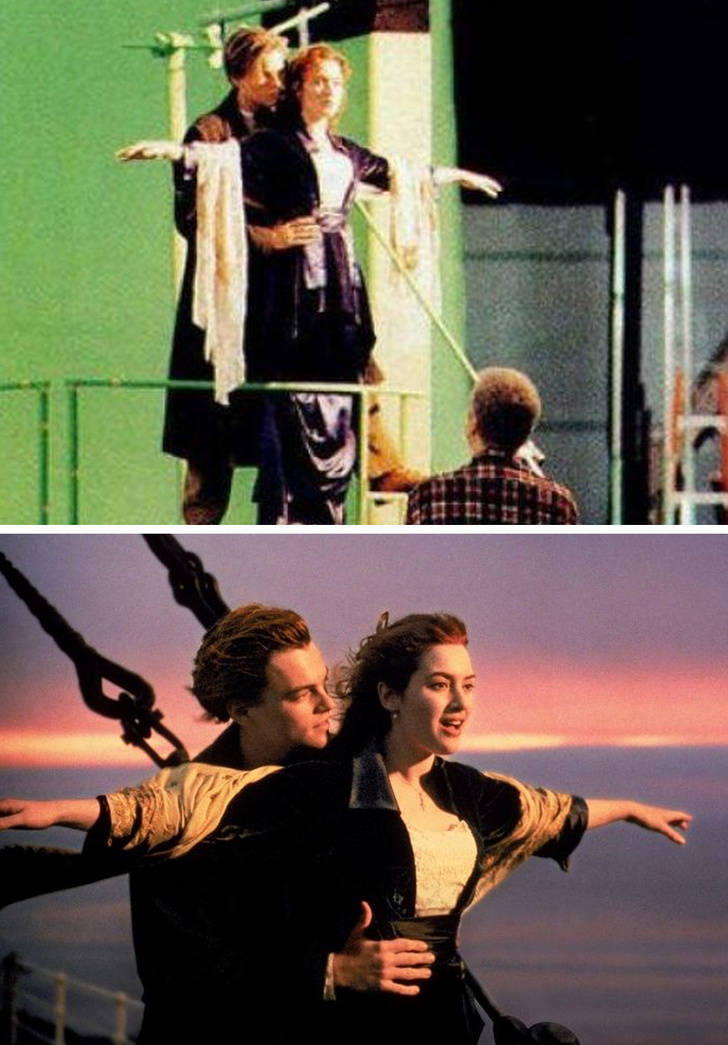 Behind-The-Scenes Movie Shots Seem So Surreal These Days. Especially When Compared To The Actual Movie Scenes