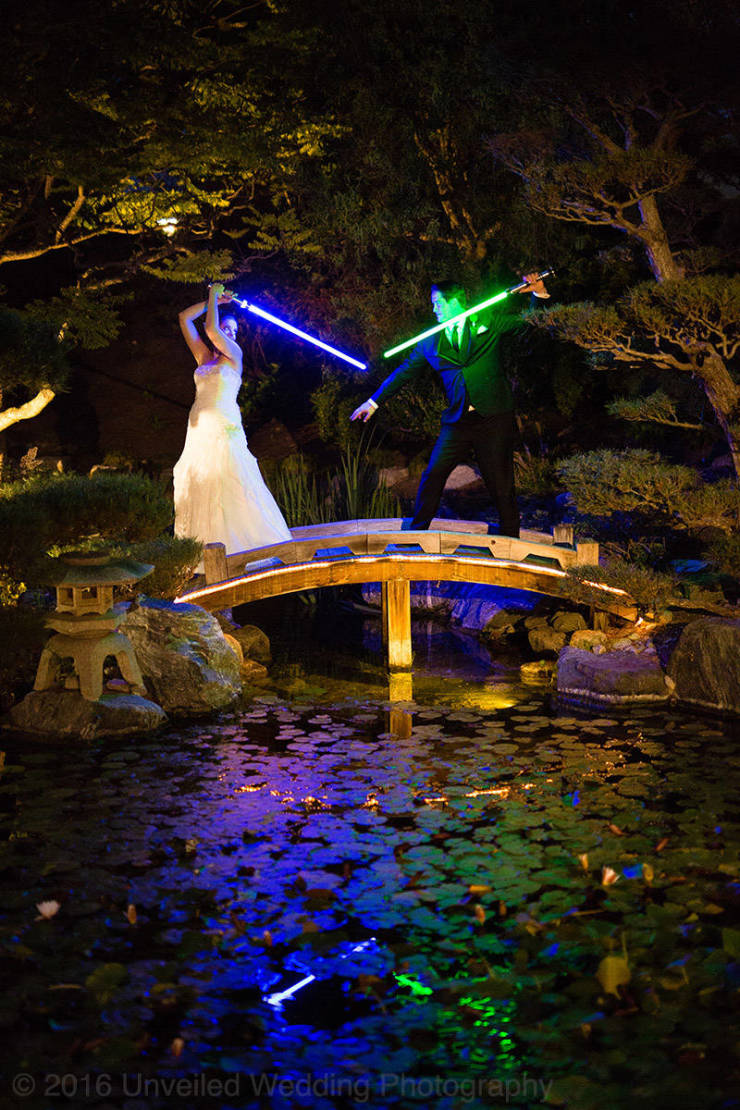 Force Was Very Much With This Couple On The Day Of Their Wedding
