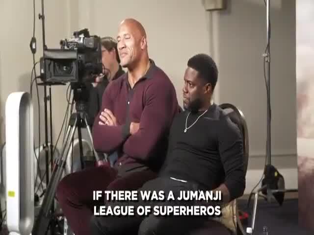 Dwayne Johnson Chooses A Superhero Name For Kevin Hart