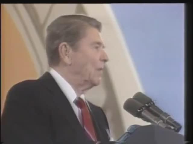 Ronald Reagan's Reaction To A Popped Balloon