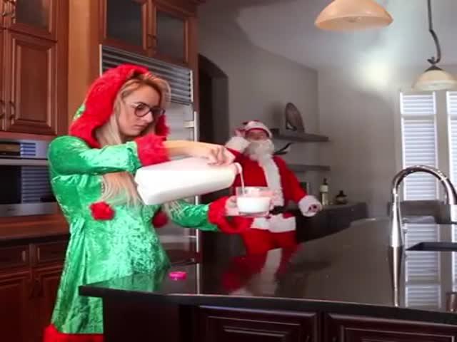 Santa Has A Pretty Good Aim!