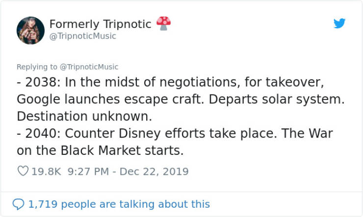 Guy Writes Disney's Timeline From 1995 All The Way To 2100
