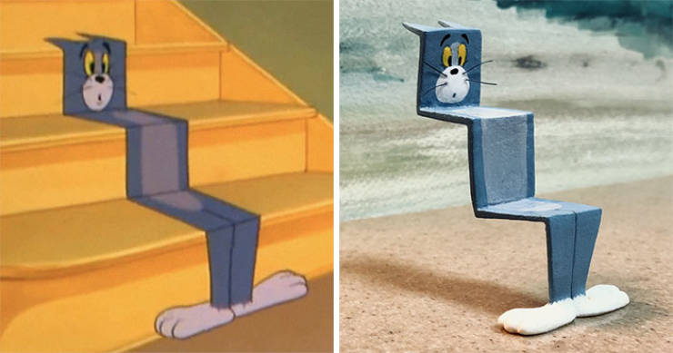 """Japanese Artist Turns Memorable """"Tom And Jerry"""" Scenes Into Real Sculptures"""