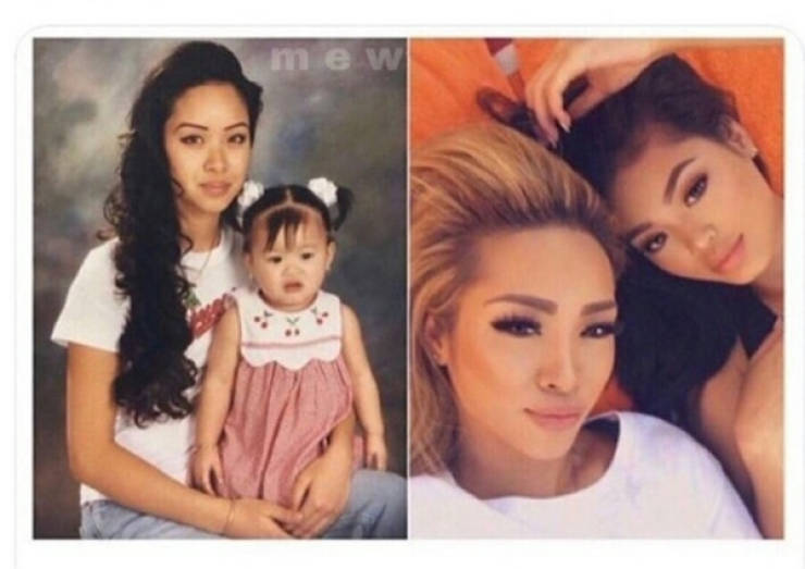 Past And Present In Family Photos