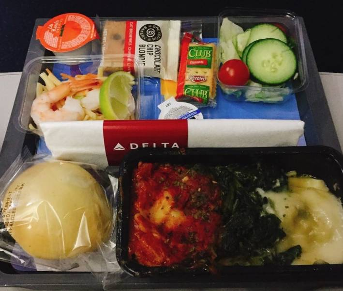 How Airplane Food Looks When You're Flying With Different Airlines