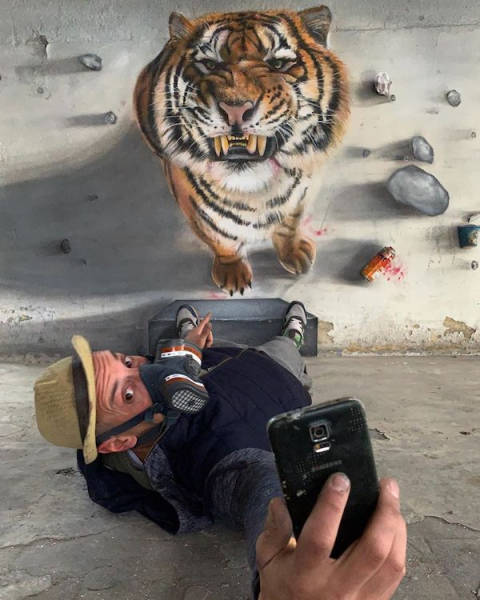 This Graffiti Artist Blurs The Line Between Art And Reality