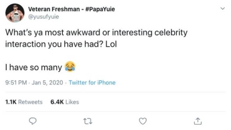 Celebrity Encounters Can Get Pretty Awkward…