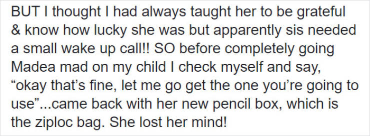 Mom Teaches Her Daughter A Lesson About Gratitude