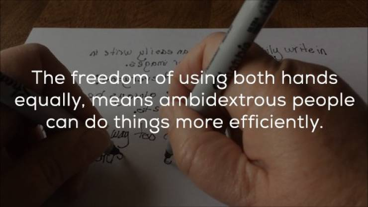 These Ambidextrous Facts Can Use Both Hands!