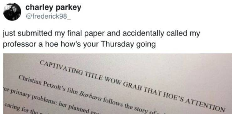 Students, Just Proofread What You Submit, Will Ya?