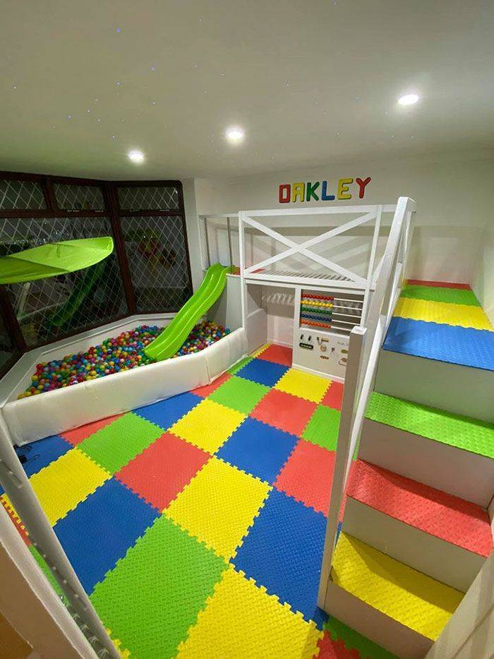 This Playroom Was Built Entirely By A Dad For His Son