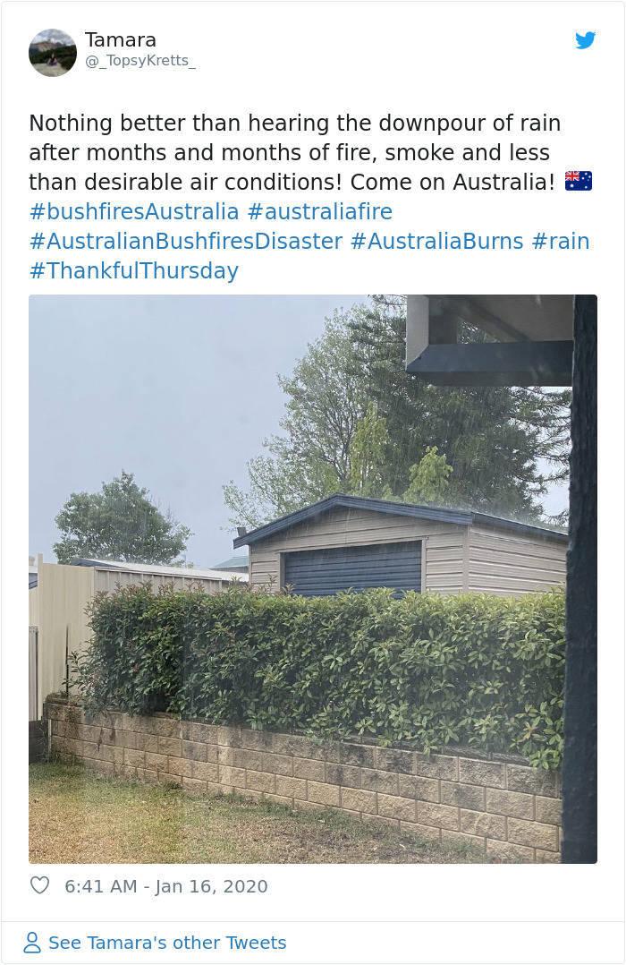 Finally, Rains Over Australia!