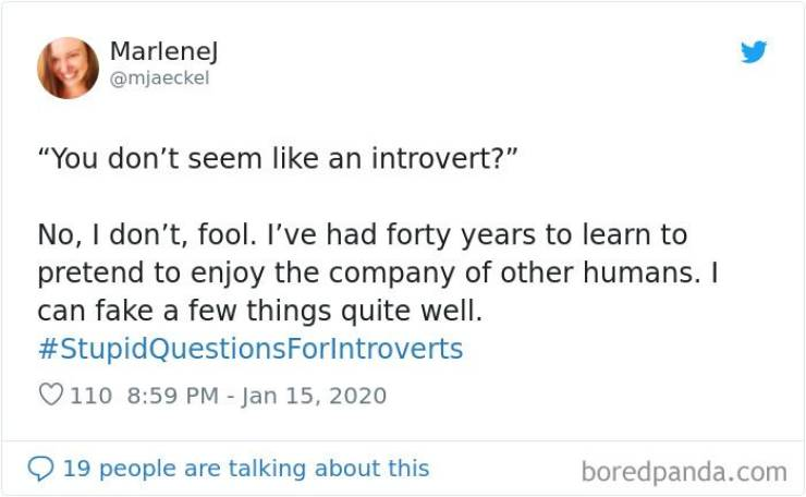 Introverts Clearly Don't Enjoy These Questions…